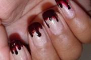 spooky nail design halloween
