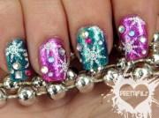 fabulous snowflake nail design