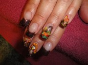 inspiring thanksgiving nail design