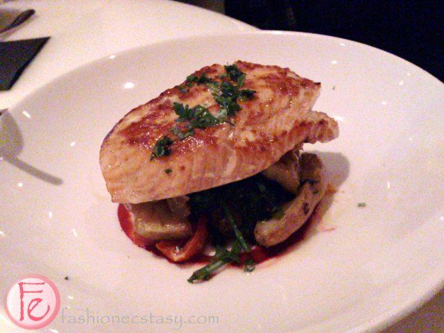 OYA Restaurant's Atlantic Salmon with brocolini, fingerling potatoes and kaffir lime beurre blanc