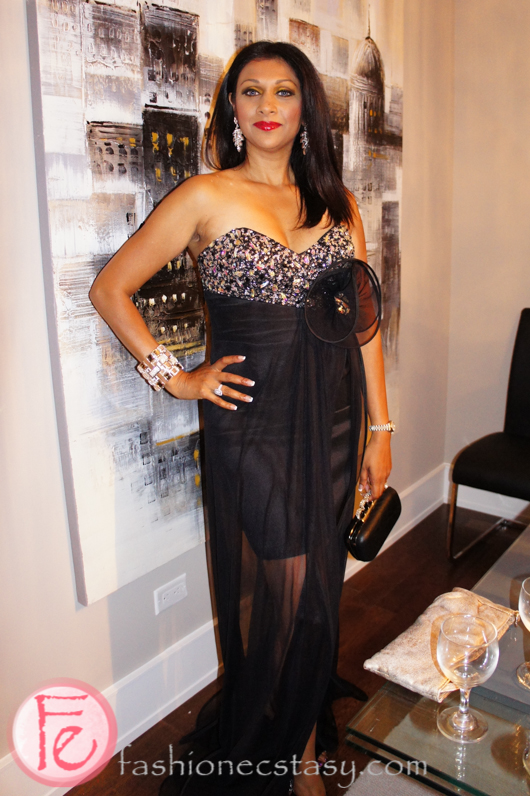 Karen Johnson wearing FREDA's for her next red carpet event