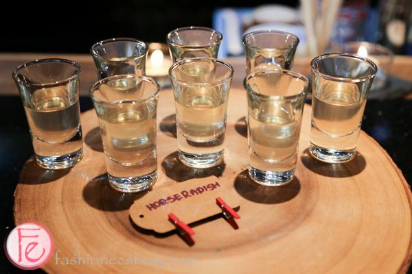schnitzel hub's house-infused horseradish vodka