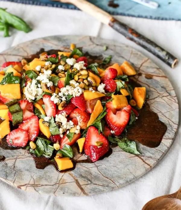Strawberry Mango Basil Salad FashionEdible
