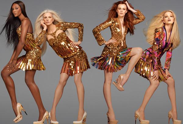 Naomi Campbell Roberto Cavalli Spring 2012 campaign