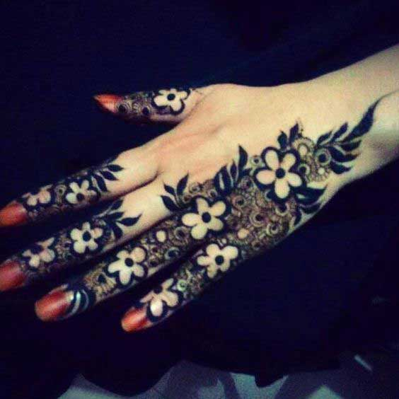 Back Finger Mehndi Design Easy