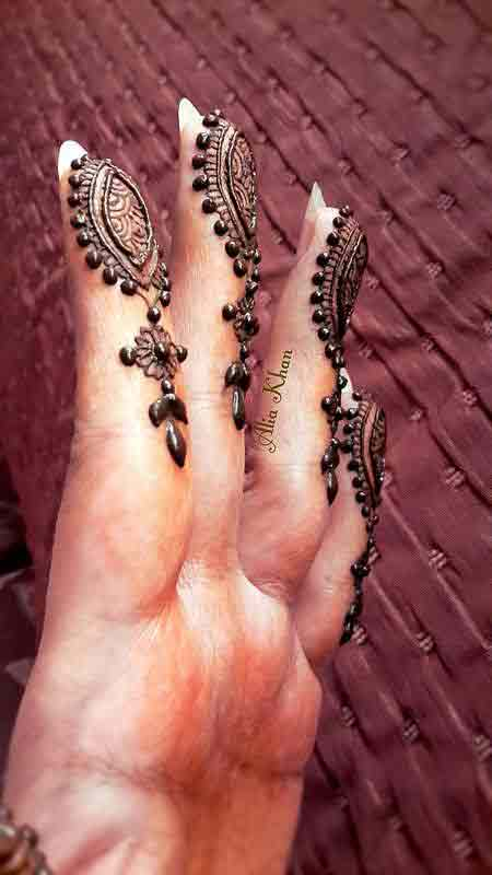 Latest Simple Mehndi Designs For Fingers 2017 Images