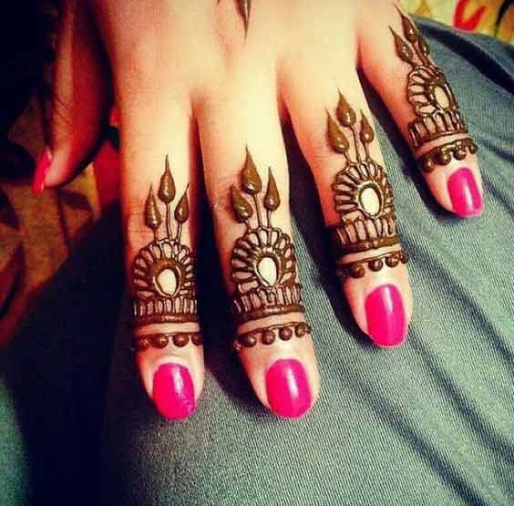 Only Finger Mehndi Design 2018