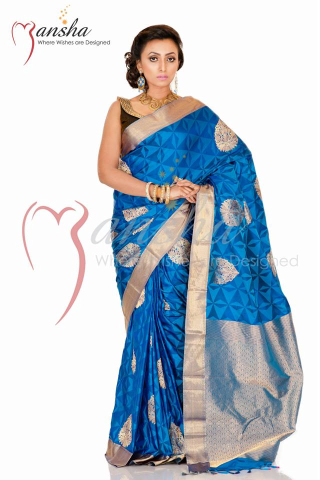 Kanchipuram Katan New Summer Saree Collection 2014 by Mansha