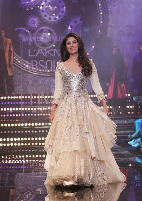 Kareena Hot in Manish Malhotras Lehenga and Anarkali Dresses 2014