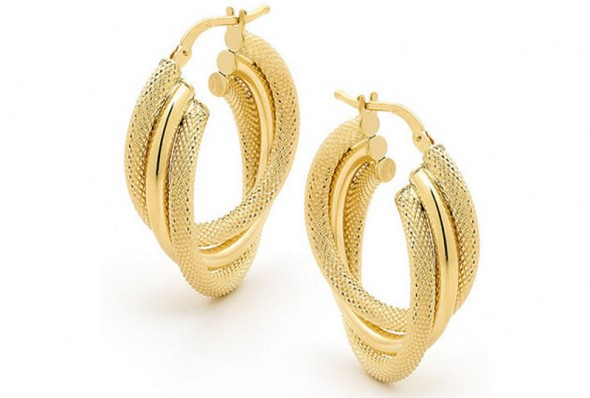 Gold Earrings New Collection 2014 By Goldheart For Women