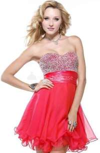 Prom Dresses Short Red Colored 2014 - 2015 Collection