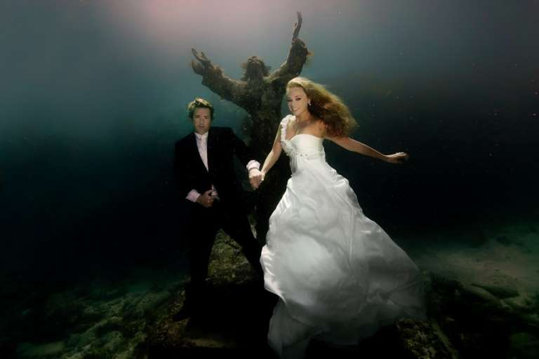 Underwater Wedding Dress Photography Album 2014  2015
