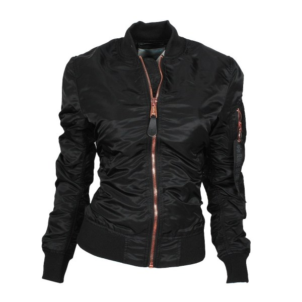 ALPHA Industries MA-1 VF LW Damen Jacke black/copper online bestellen bei Mode Freund Top Fahion Marken ab 50€ Vers.k.frei