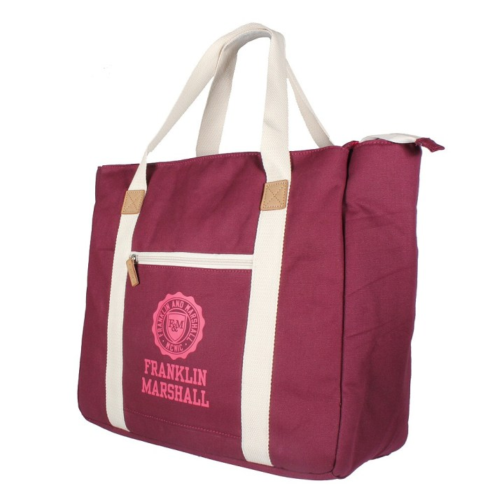 Franklin & Marshall Damen Shopper solid im trendigen College-Look  Taschen online bestellen bei Mode Freund online Fashion Store