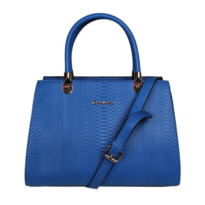 Tom & Eva Damen Handtasche Snake Vein blau online bestelle n bei Mode Freund Top Marken Fashion ab 50€ Versandkostenfrei