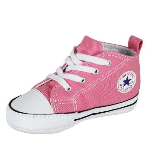 Converse Baby Krabbelschuhe First Star Hi Geschenkbox pink