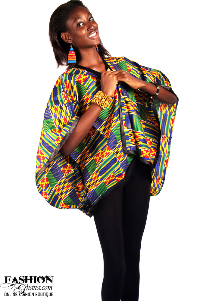 African Print Poncho
