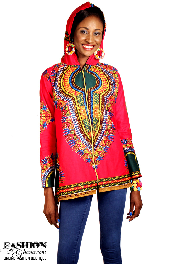 Dashiki / Angelina Print Hooded Top / Jacket