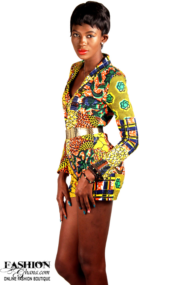 African Print Playsuit / Romper
