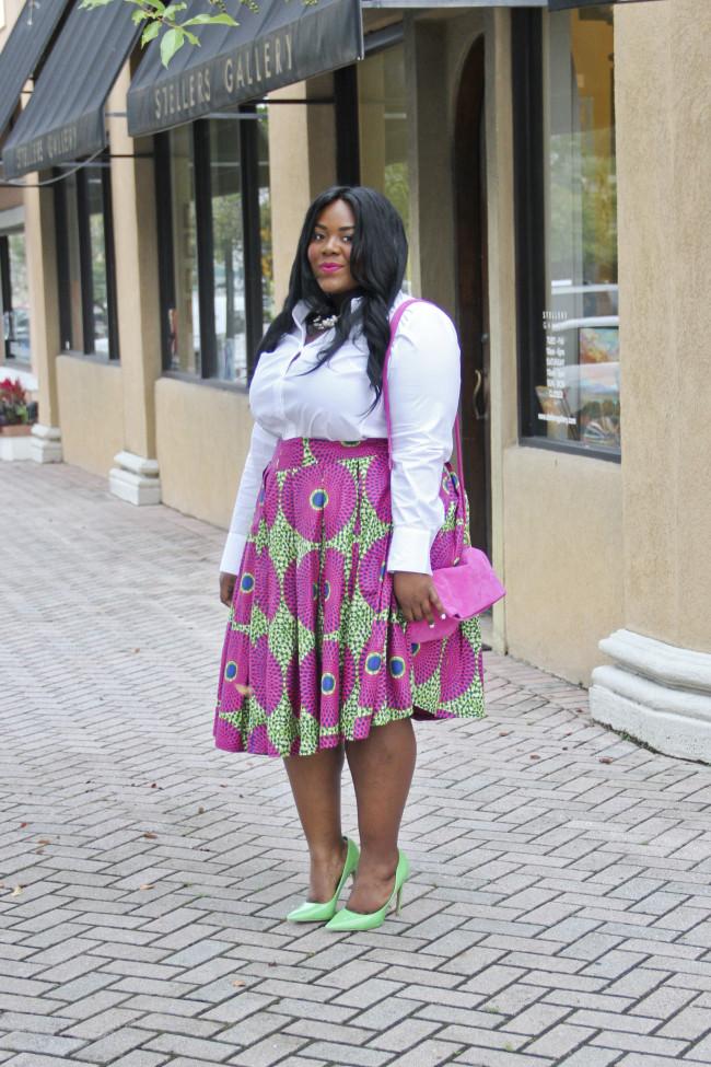 african print skater skirt (4)