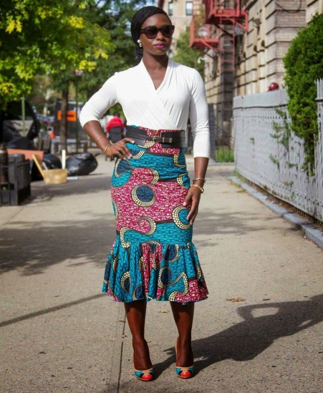pencil skirt print african fashion (3)