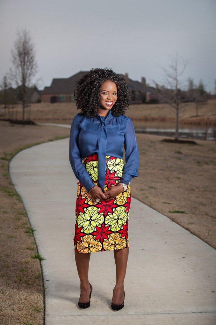 pencil skirt print african fashion (5)