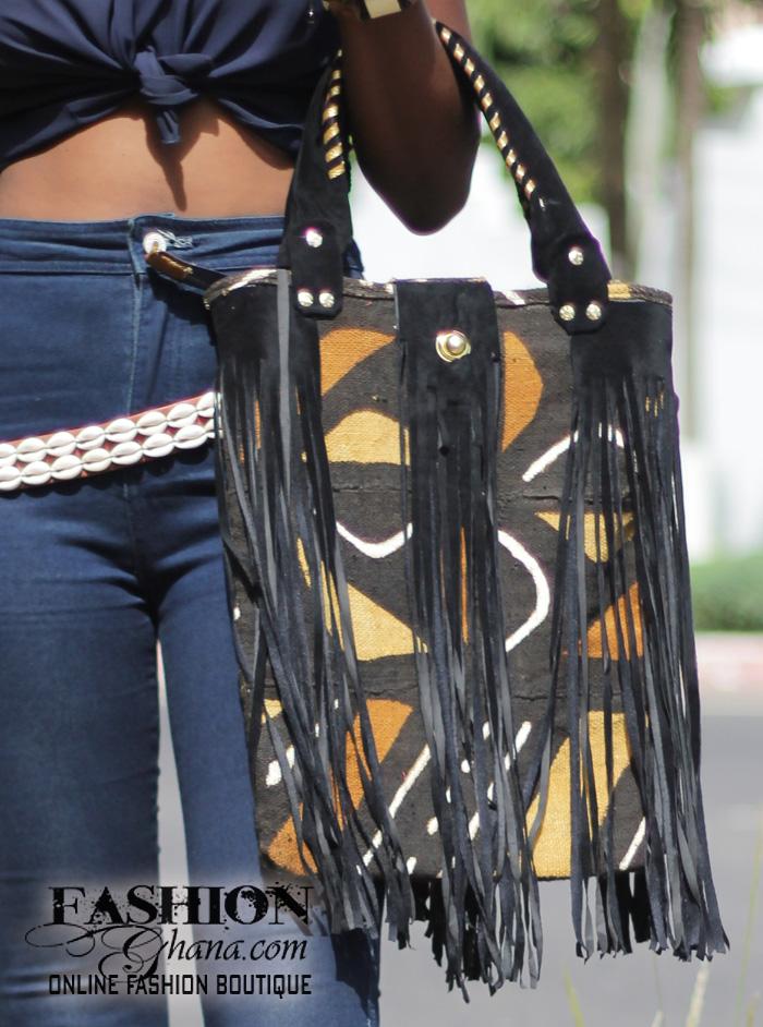 Bogolan Fringe Bag