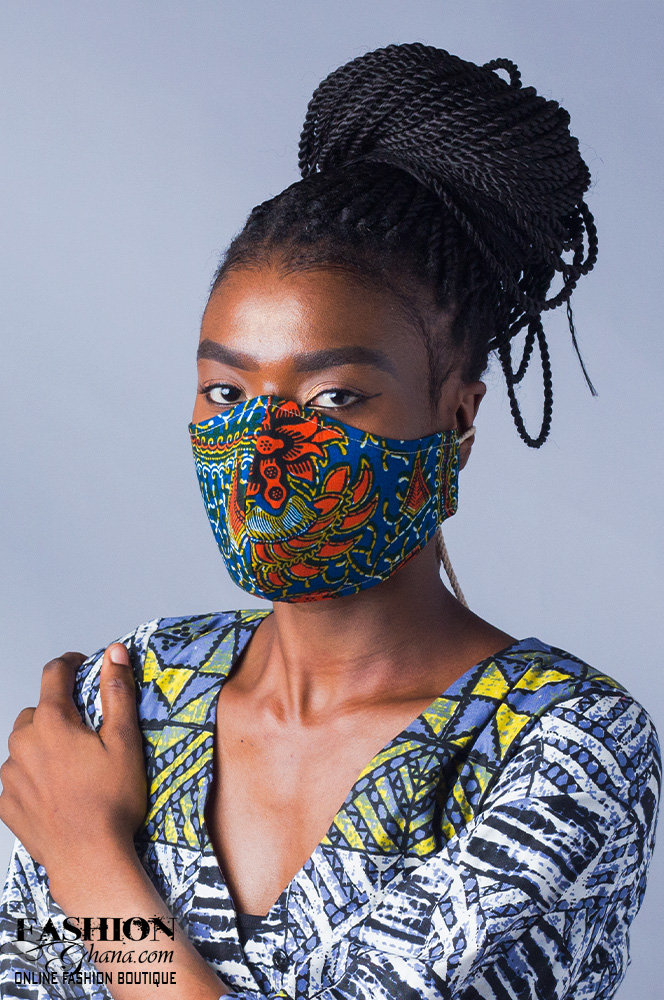 Afre Anko African Print Nose Mask x 3