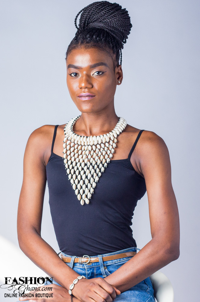 Cowry Shell V-Statement Collar Necklace