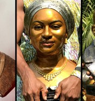 PICS: From Shatta Wale To Nana Akufo-Addo, Meet Obama The Clay Doctor, A Scultpurist Creating Outstanding Memories