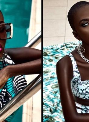 #HOTSHOTS: Dark Skinned Beauty Winnifred Stuns In Swimwear & Mikoko Jewelry Editorial By Sharon O Photography