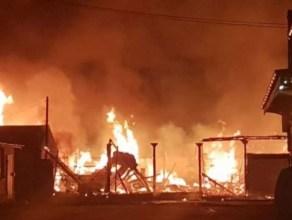 VIDEO: Hawkers & Sellers Flee As Fire Ravages Ghana's Popular Makola Market Once Again