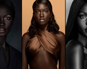 #MODELCRUSH: Check Out Awuor Dit, The Stunning Dark Toned Sudanese Model With Lots Of Viral Headshots!