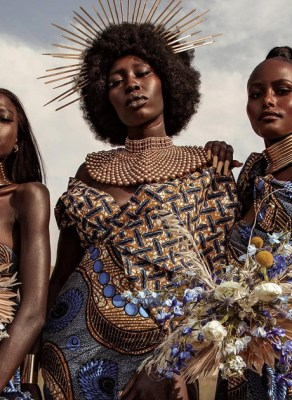 #HOTSHOTS: A Queen Leads Her Tribe In The New 'HERITAGE' Editorial By Tenesha Luckett