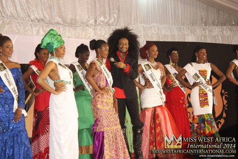 Miss West Africa International 2014: African hairstyle & natural Hair Only.