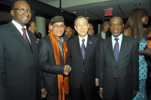 From Left: Amadou Maiga Alamine, Alphadi, Banki Moon