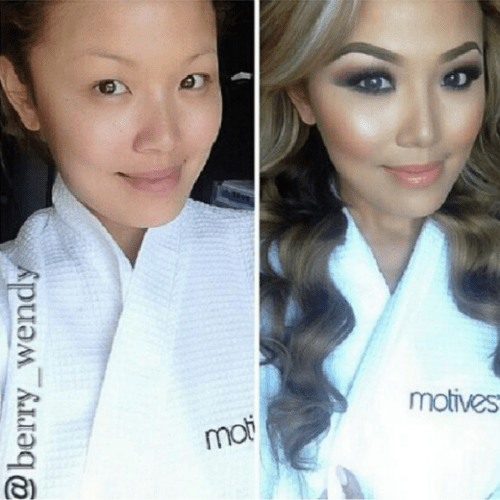 before and after make up on ig (2)