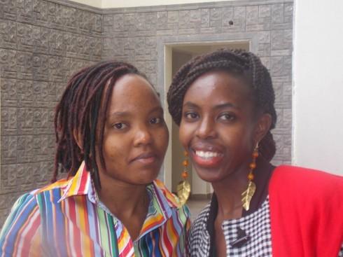 Susan Njuhi of Riri Jewellry and Stella Ndugo of FAFA during the Business Of Fashion workshop