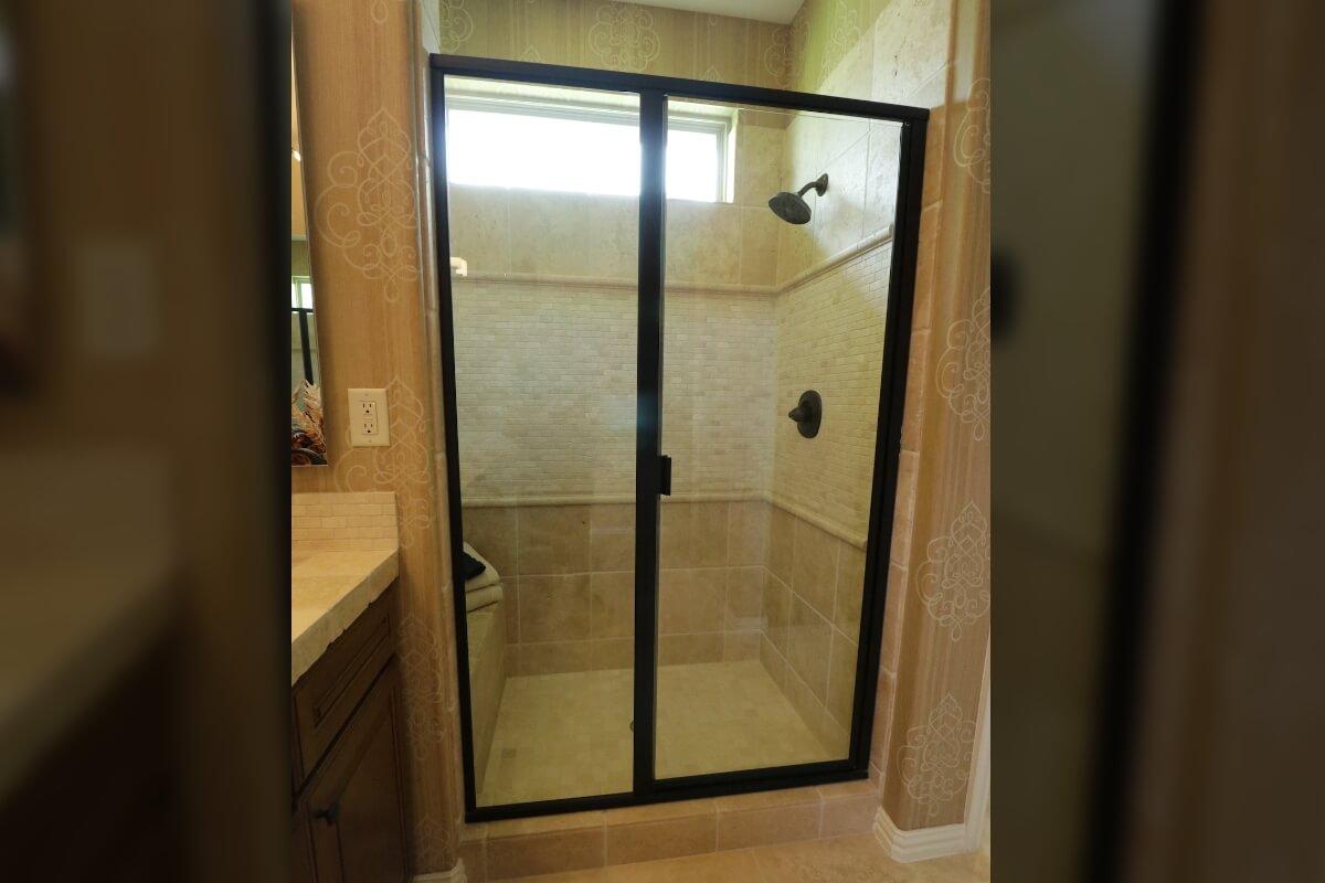 Frameless Neo Angle Shower Doors Austin Texas Fashion Glass