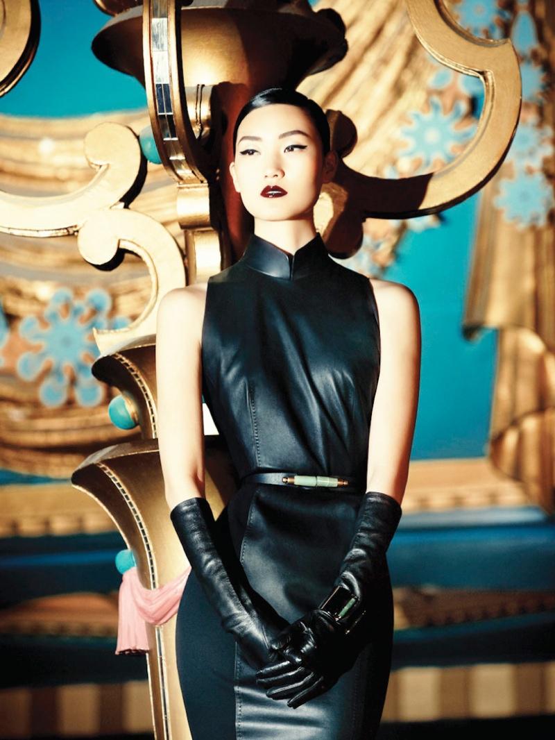 Lina Zhang Fronts Shanghai Tang Fall 2013 Ads by Richard Bernardin