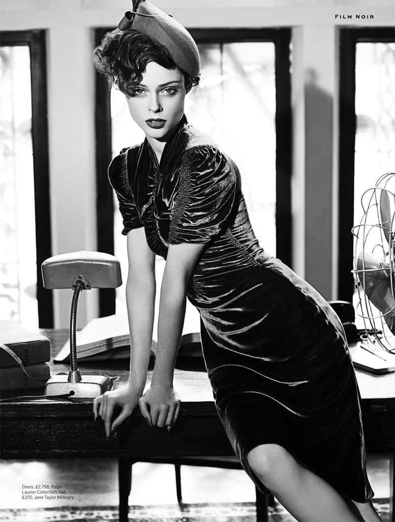 Coco Rocha Models New Haircut In Film Noir Shoot For