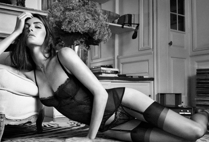 oysho lingerie hilary rhoda8 Hilary Rhoda Seduces for Oyshos Fall 2013 Lingerie Ads