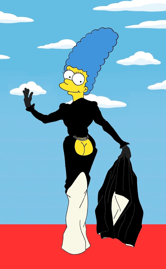 Marge Simpson Channels Style Icons in aleXsandro Palombo