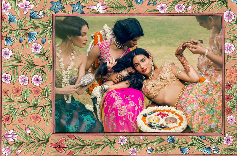 indian wedding india fashion editorial vogue henna