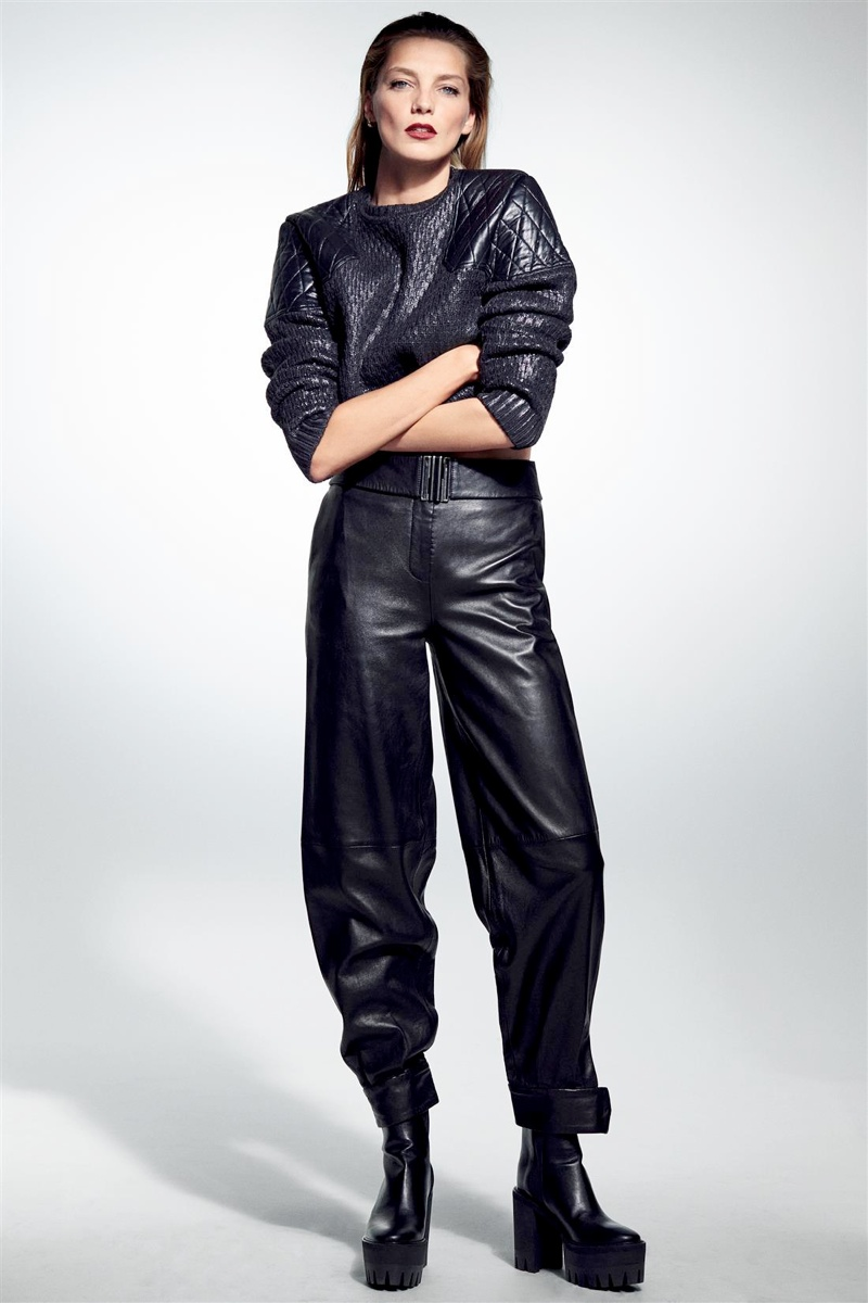 Daria Werbowy Models Leather Fashions for Cass Bird in LExpress Styles  Fashion Gone Rogue