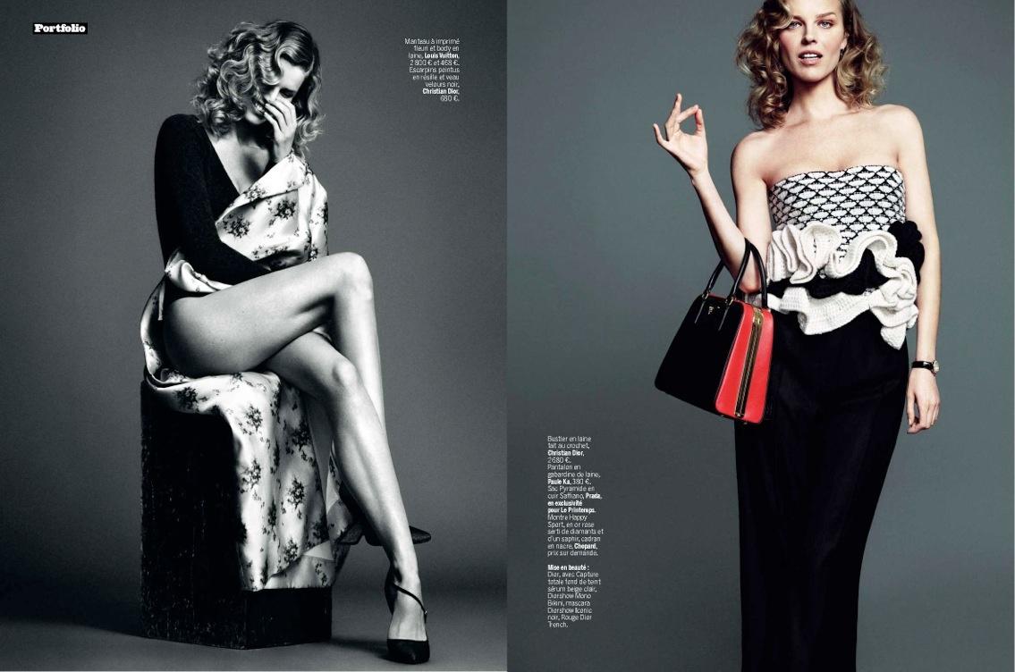 Eva Herzigova Is Ladylike Glam For LExpress Styles By Nico