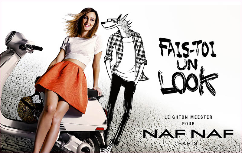 Fall Moving Wallpaper Leighton Meester For Naf Naf Spring 2014 Campaign