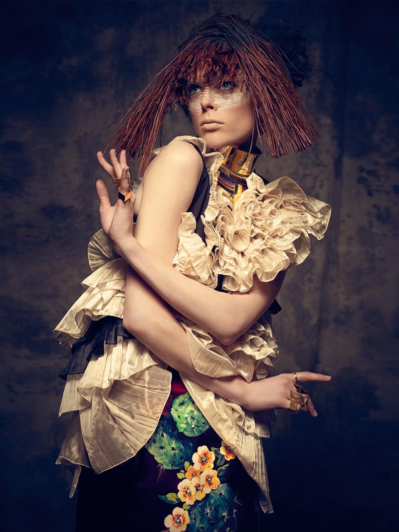 coco rocha bazaar mexico photos7 Coco Rocha Gets Wild for Harper's Bazaar Mexico Cover Shoot