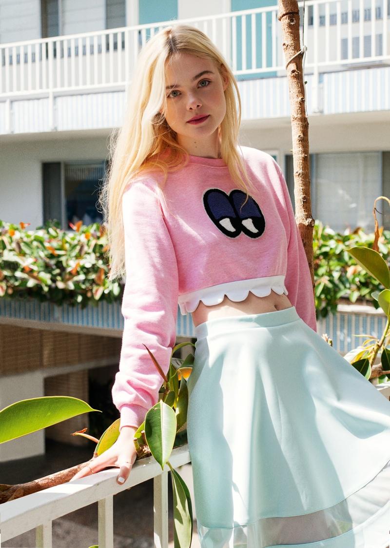 elle fanning asos magazine photos5 Elle Fanning Stars in ASOS Magazine, Talks Knowing Karl Lagerfeld