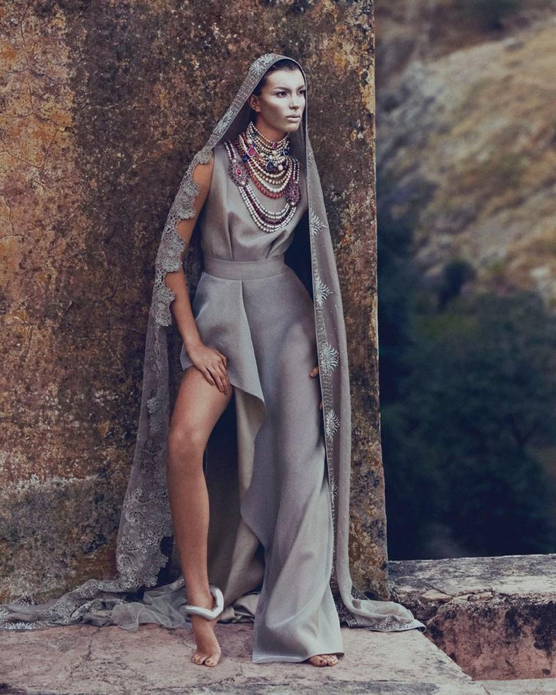 kate kung foto shoot1 Kate Kung modeller Sari stil för hur man spendera den av Andrew Yee